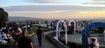 Wedding party at Goha Hotel, Gondar.